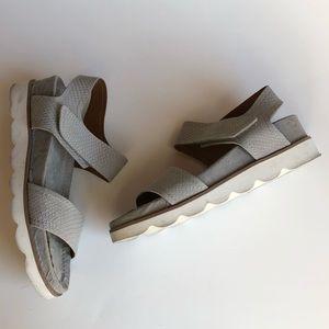 Franco Sarto India Platform Sandal Gray Snake